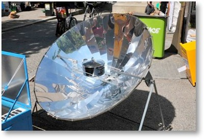 太陽熱調理器:晴天時では ...